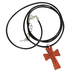 Soul Anchor, Jeremiah 29:11 Cord Cross Necklace with Card, Wood, Brown and Black, 24 inch Cord