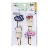 the Paper Studio, agenda 52 Llama Drama Paper Clips, 1 Each of 4 Designs