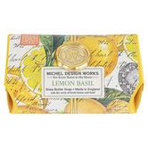 Michel Design Works, Lemon Basil Large Bath Soap Bar, 8.7 ounces, 4 3/8 x 2 3/4 x 2 inches