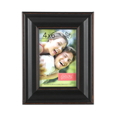 Rubbed Look Wide Scoop Frame, 4 x 6 inches, Black