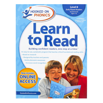 Hooked on Phonics, Learn to Read Level 8 Early Fluent Readers, Grade 2, Box Set, Ages 7-8