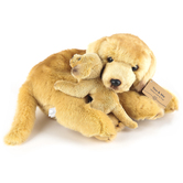 Demdaco, Yellow Lab & Pup Plush, 9 x 13 Inches