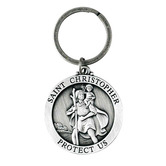 Dicksons, St. Christopher Key Ring, Pewter, 1 1/2 inches