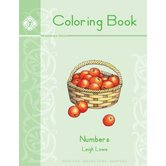 Memoria Press, Numbers Coloring Book, by Leigh Lowe, Paperback, 55 Pages, Grades PreK-K