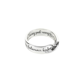 Dicksons, Galatians 5:22-23 Wide Mobius, Women's Ring, Silver Plated, Sizes 6-9