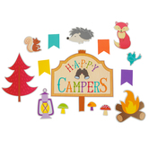 Renewing Minds, Happy Campers Bulletin Board Set, 58 Pieces