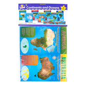 North Star Teacher Resources, Continents and Oceans Bulletin Board Set, 8 Pieces