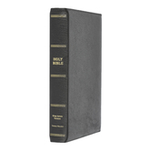 KJV Premium Reference Bible, Giant Print, Goatskin Leather, Black