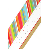 TooCute Collection, Wide Double-Sided Border Trim, 38 Feet, Multi-Stripes and Mini Dots