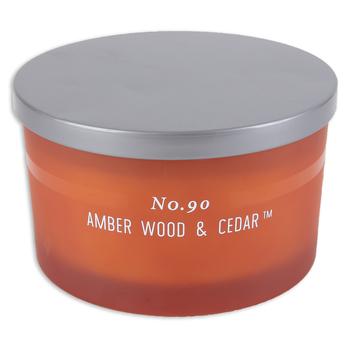 No. 90 Amber Wood & Cedar Jar Candle, Orange, 15 ounces, 5 1/4 x 3 1/8 inches