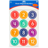 Carson-Dellosa, Classic Numbers Magnetic Cut-Outs, 2.25 Inches, Multi-Colored, 36 Pieces