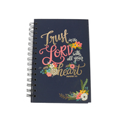 SoulScripts, Trust in the Lord, Spiral-Bound Hardcover Journal, Navy, 5 1/4 x 8 inches, 160 pages