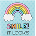 Renewing Minds, Smile It Looks Good On You Motivational Poster, 13.25 x 19 Inches, 1 Piece