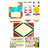 Color Me Brilliant Collection, Class Labels Bulletin Board Set, 17 Pieces