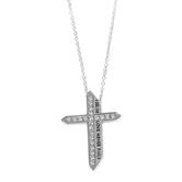 Spirit & Truth, 1 Corinthians 13:8, Love Never Fails Katana Cross, Women's Necklace, Stainless Steel, 18 Inches
