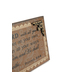 Trust in the Lord Plaque, Brown, 4 1/2 x 10 inches