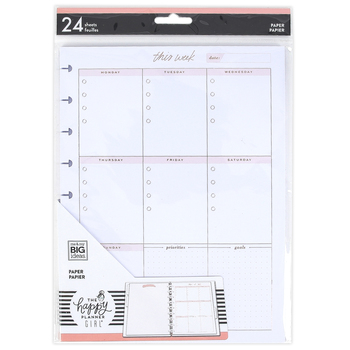 MAMBI, The Happy Planner ®, Minimalist Classic Filler Paper, 24 sheets
