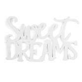 Sweet Dreams Wall Words, MDF, White, 20 1/2 x 12 1/2 inches