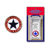 H.J. Sherman, Blue Star Mothers Lapel Pin, Metal, Gold, 7/8 inches