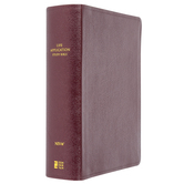 NIV Life Application Study Bible, Large Print, Bonded Leather, Multiple Colors Available