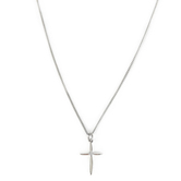 H.J. Sherman, Cross with Cubic Zirconia Pendant Necklace, Sterling Silver, 18 inches