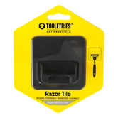 Tooletries, Mason Razor Holder, Silicone, Charcoal, 2 3/4 x 2 3/4 inches