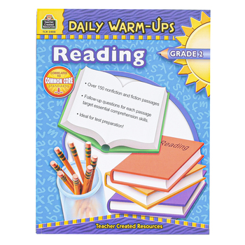 Teacher Created Resources, Daily Warm-Ups Reading Workbook, Reproducible Paperback, 176 Pages, Grade 2