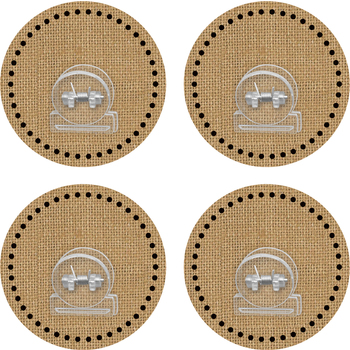 Teacher Created Resources, Clingy Thingies Burlap Clips, 3.125 Inches, Set of 4