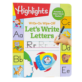 Highlights, Write-On Wipe Off Let's Write Letters Activity Book, Spiral, 57 Pages, Grade PreK-K