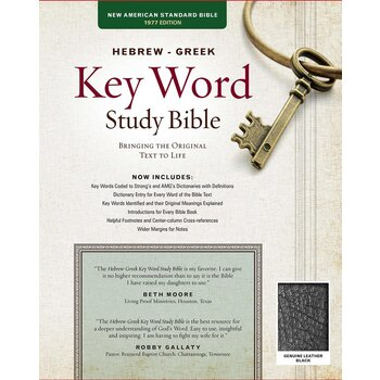 NASB Hebrew-Greek Key Word Study Bible, Genuine Leather, Black