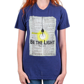 His Word Clothing Company, Matthew 5:14 Be the Light, Women's Short Sleeve T-shirt, Dark Blue, S-2XL