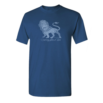 Gardenfire, Roaring Like a Lion, Men's Short Sleeve T-Shirt, Indigo,  S-2XL