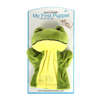 The Puppet Company, My First Puppets Frog, Green, 12 1/4 x 6 1/4 x 2 3/4 inches