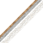 Renewing Minds, Galvanized Metal with Natural Wood and White Brick Double-Sided Trimmer, 38 Feet