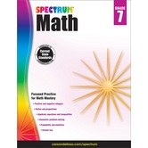 Spectrum, Math Workbook, Paperback, 160 Pages, Grade 7