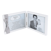 The Grandparent Gift Co, Godson Sentimental Photo Frame, Metal, Gray, 4 x 6 Inches
