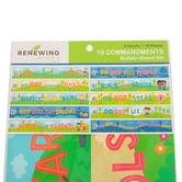 Renewing Minds, 10 Commandments Mini Bulletin Board Set, 10 Pieces