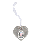 Ganz, Memorial Photo Ornament, Silver-tone, Holds 7/8 x 1 1/4 inch Photo, 2 1/2 x 3 3/4 inches
