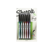 Sharpie, Permanent No Bleed Pens, Fine Point, Assorted Fun Colors, Pack of 6