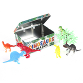 Dinosaurs In A Box Play Set, 7 Pieces