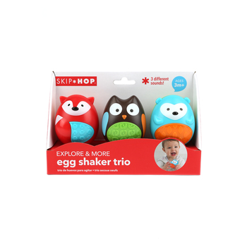 Skip Hop, Egg Shaking Trio, Ages 3 Months and Older, 2.25 x 2 x 2.75 Inches , 3 Piece Set