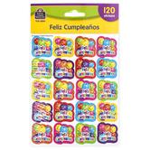 Teacher Created Resources, Feliz Cumpleanos Stickers, Multi-Colored, 120 Stickers
