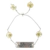 Faith in Bloom, Blessings In Bloom Slide Bracelet, Zinc Alloy, Silver