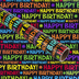 Brother Sister Design Studio, Gift Wrap Roll, Happy Birthday, 50 square feet