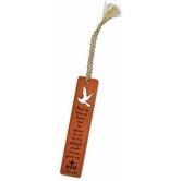 H.J. Sherman, 1 John 3:24 Confirmation Bookmark, Wood, Mahogany, 1 x 5 inches