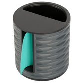 3M, Vertical Post-it Note Dispenser, Plastic, Black and Gray, 4 x 4 inches