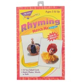 TREND enterprises, Inc., Rhyming Match Me Cards, 52 Cards, 3 x 4 inches, Ages 5+