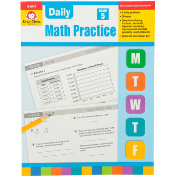 Evan-Moor, Daily Math Practice Teacher's Edition, Paperback, 128 Pages, Grade 5