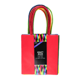 Small Primary Kraft Bags, Multi-Colored, 2 1/2 x 4 1/2 x 5 Inches, 10 Count
