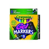 Crayola, Broad Line Washable Gel Markers, Assorted Colors, 8 Count